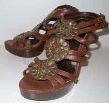 Bumper Womens Sandals Platform Casual Dress Heels Size Size 8.5M