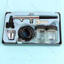 New Dual Action Air Brush Kit Tattoo Paint Tool Craft Cake Nail Art Spray Gun