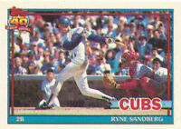 Ryne Sandberg 1991 Topps Micro #740 HOF Chicago Cubs baseball card