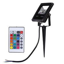 10W 220V LED Spot Light Spotlight Outdoor Pond Garden Yard RGB Lamp+Remote IP65