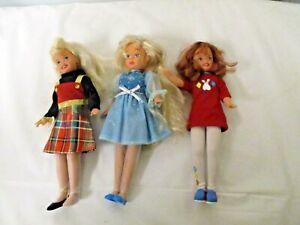 "Lot 3 Mattel Barbie 8"" Vintage Teenage Dolls-2 Stacie-Bowling Outfit Courtney"