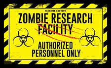 Large Zombie Research Halloween Wall Graphic  Decal | Sticker BOGO