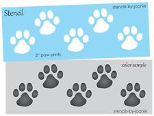 "Pet Stencil 2"" Paw Prints Dog Cat Animal Tiger Border Frame Art Signs You Paint"