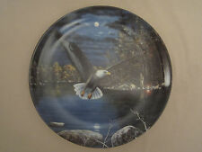 BALD EAGLE collector plate NIGHT FLYER Jim Hansel WORLD OF THE EAGLE #3