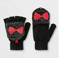 Girls' Disney Minnie Mouse Gloves - Black One Size