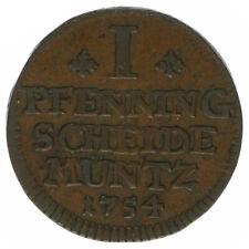 RDR Braunschweig Wolfenbüttel 1 Pfennig 1754 A49392