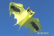 "Bat Kite,Yellow:54""W x 33.5"" H, Outdoor Family Wind Toy, Gift, Halloween Decor"