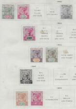 8 Seychelles Islands Stamps from 19th Century Brown Scott Album 1890-1900