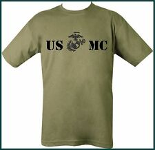 US MC MARINES corp ARMY T-SHIRT FRONT & BACK STAMP