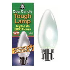 Eveready 10 X 40watt Candle BC B22 Bayonet Cap Opal Tough Lamp