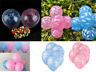 ITS A BOY GIRL FOIL HELIUM BALLOONS CELEBRATION NEW BABY SHOWER PARTY  LATEX CRS