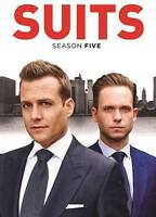 SUITS: Season Five (DVD, New with slipcover, Widescreen, USA, 2016, 4-discs)