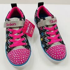 NEW GIRLS SKECHERS TWINKLE TOES Hearts  Size 2.5