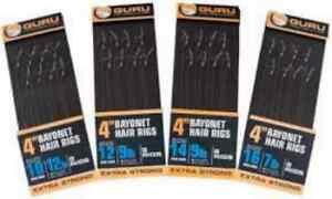 GURU MWG BARBLESS 4'' & 15'' HOOKS TO NYLON HAIR RIGS WITH BAYONETS CARP/COARSE