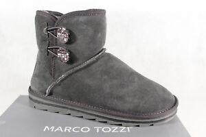 Marco Tozzi Stivali Stivaletti Stivali Invernali Grigio 26822 Nuovo