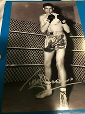 Terry Downes Signed Photo. Boxing Memorabilia Autograph