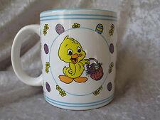 Rare U.S.C.C. Yellow Duck with Easter Eggs Basket Coffee Mug
