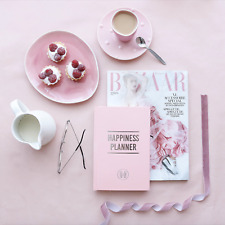 THE 100-DAY HAPPINESS PLANNER Pink Guided  Mindfulness Therapy Gratitude Journal