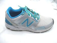 New Balance 10B 3040 silver blue womens ladies athletic running sneakers shoes