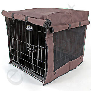 Dog Pet Cage Crate Cover 5 sizes Waterproof Heavy Duty Chocolate Brown Easipet