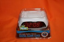 Electric Digital LED Alarm Clock Battery Back Up