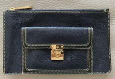 Authentic Louis Vuitton Black Suhali Leather Clutch/Pouch