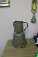 "Vintage / Antique Arabic Handmade Hammered Copper Water Pitcher Ewer Jug 15"""