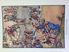 M3b ephemera 1920s book plate james d dowell the pygmies go to battle