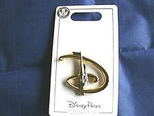 Disney * FANCY 'D' LOGO w/ CASTLE TURRET * New on Card Goldtone Trading Pin