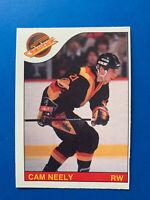 Cam Neely 1985-86 #228 O-Pee-Chee Hockey Card Vancouver Canucks OPC