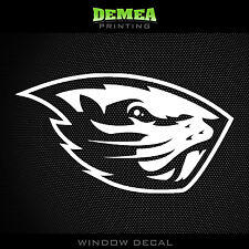 "Oregon State Beavers - NCAA - White Vinyl Sticker Decal 5"""