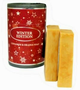 Winter Edition Soap Cinnamon & Orange With A Gift Box Contains 2 x 75g Handmade