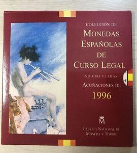 """Spain 1996 """"Monedas Españolas De Curso Legal"""" Coin Set FS#45"""