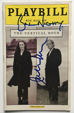 Julianne Moore & Bill Nighy Signed THE VERTICAL HOUR Playbill January 2007