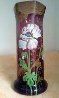 LEGRAS Montjoye Vase émaillè 1900 XXème DECO ART NOUVEAU no Daum/Gallè/Lalique
