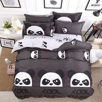 Cool Panda Doona Duvet Quilt Cover Set Single Queen King Size Animal Bedding Set