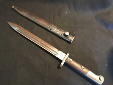 Old Vtg Military German? Mauser Bayonet Sword Knife Blade With Scabbard