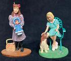 "American Girl Keepsake Ornament  Kit and Samantha approx. 4"" tall"