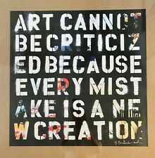 Mr. Brainwash MBW ART CANNOT BE CRITICIZED 23 x 23 Poster Print 2011 Obey LA