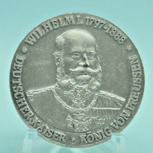 DEUTSCHLAND: WILHELM I. PREUSSEN - DREIKAISERJAHR 1888, mattiert, Medaille, 1Be4