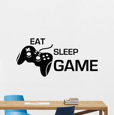 Eat Sleep Game Wall Decal Gamepad Video Gaming Vinyl Sticker Decor Mural 73xxx