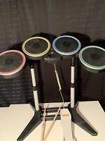 Wii Harmonix Rockband 2 Rock Band Wireless Drum Set NWDMS2 NO Dongle w/ Pedal