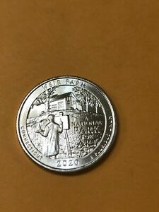 2020 W CT CONNECTICUT WEIR FARM UNCIRCULATED QUARTER V75 NICE COIN! LOW MINTAGE.