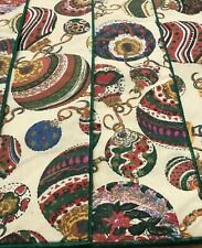 4 Vintage Quilted Christmas Placemats Holiday Ornament Pattern