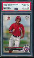 PSA 10 JUAN SOTO 2017 Topps Bowman Holiday Nationals Rookie Card RC  GEM MINT