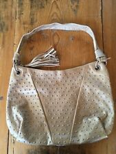 "BRAND NEW Montini leather gold handbag ""as is"" MADE IN ITALY"