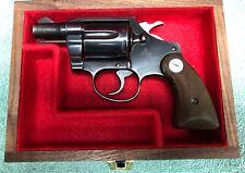"""PISTOL GUN PRESENTATION WOOD BOX COLT COBRA 2"""" BARREL FIREARM AGENT DETECTIVE"""