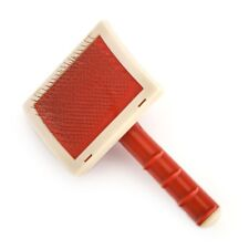 Valeur Tapis Peau de Mouton Véritable Câble Slicker Rouge Large Brosse Peigne