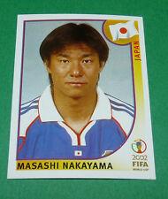 N°544 MASASHI NAKAYAMA JAPON PANINI FOOTBALL JAPAN KOREA 2002 COUPE MONDE FIFA