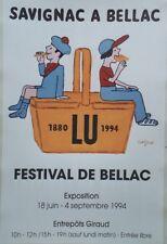 """LU 1880-1994"" Affiche originale entoilée  SAVIGNAC 1994       48x71cm"